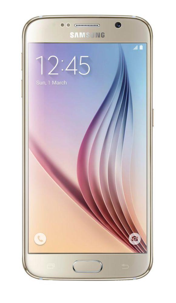 Samsung G920F Galaxy S6 32GB (zlatý) + dárek Samsung Clear View pouzdro EF-ZG920BS pro Galaxy S6 (stříbrné) zdarma