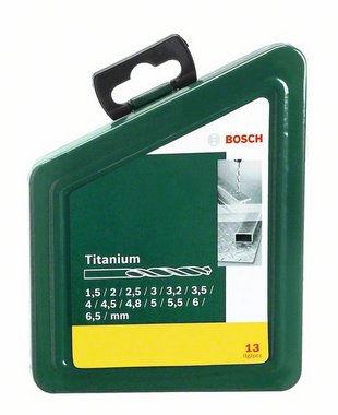 BOSCH 13 dílná sada titanových vrtáků do kovu HSS-R