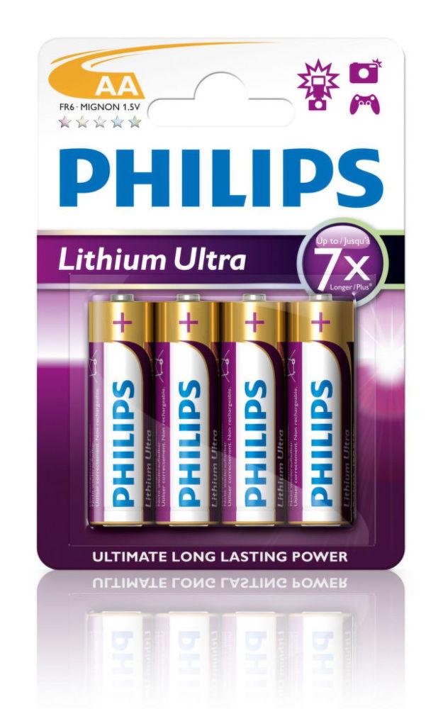 Philips Lithium Ultra AA (FR6), 4ks