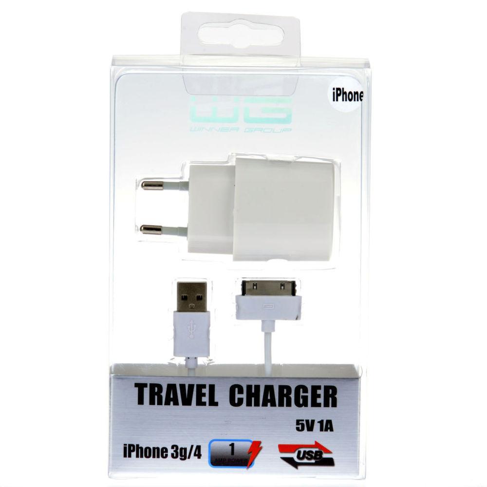 Winner nabíječka + datový kabel pro iPhone 4/3 (bílá)