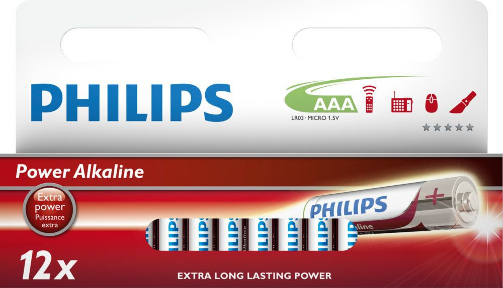 Philips Power Alkaline AAA (LR03), 12ks