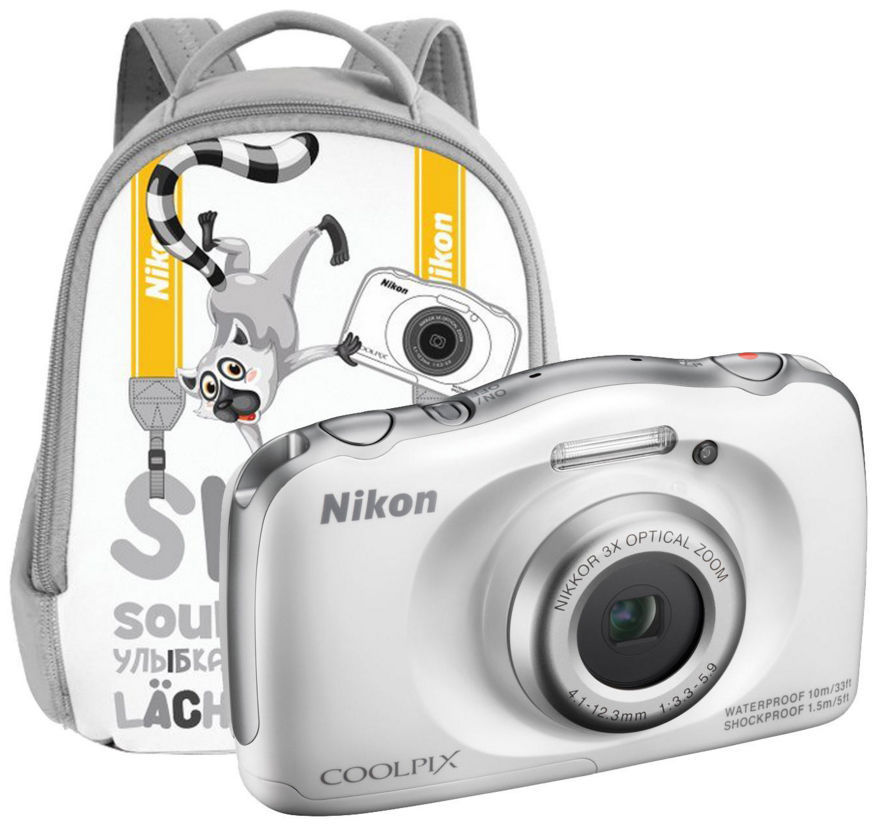 Nikon CoolPix S33 Backpack KIT (bílý)