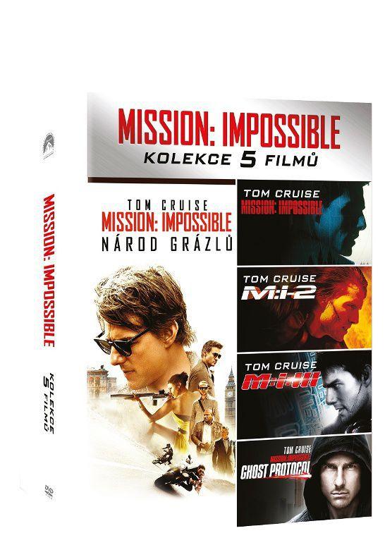 Mission: Impossible kolekce 1-5 - 5xDVD film