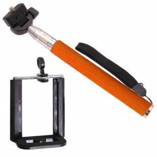 Aligator selfie tyč (oranžová)