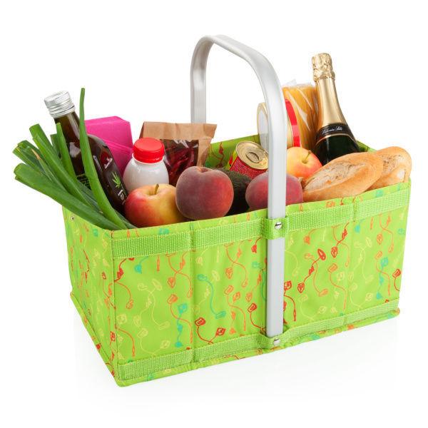 Eta nákupní skládací košík zelený