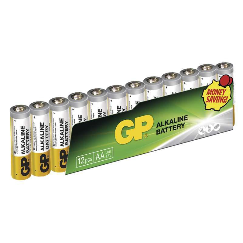 GP Alkaline AA (LR6), 12ks