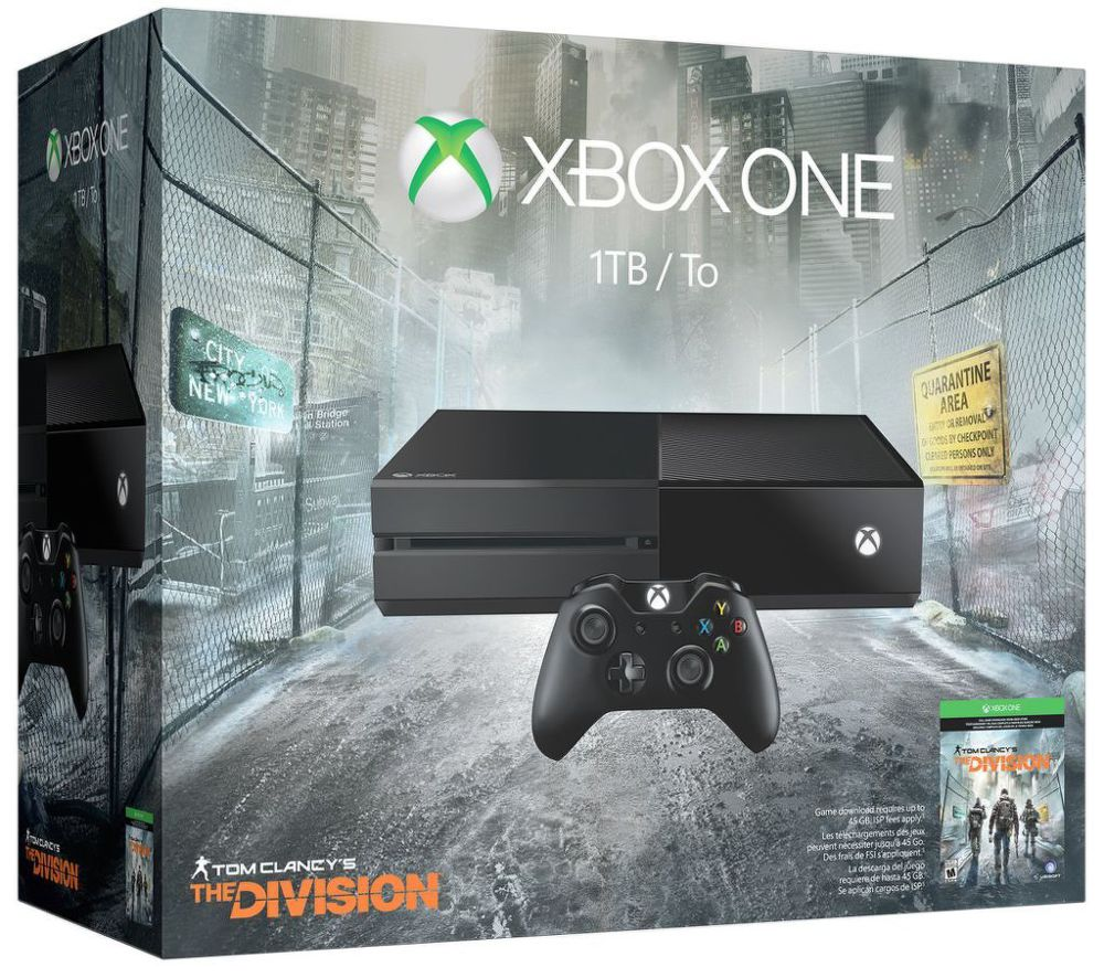 Xbox One 1TB + Tom Clancy´s The Division + dárek SpeedLink STIX Controller Cap Set - pro Xbox One, SpeedLink SL-2508-BK STREAM Play & Charge Cable Set - Xbox One (černá) zdarma