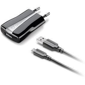 CellularLine Set síťové nabíječky a datový kabel microUSB