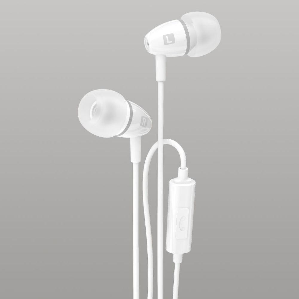 Sturdo stereo Handsfree 3,5mm (šedo-bílé)
