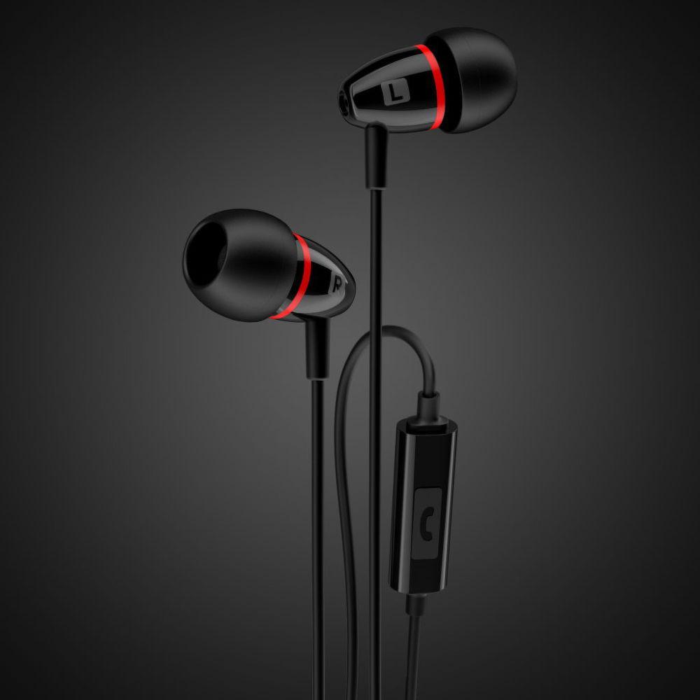 Sturdo stereo Handsfree 3,5mm (černo-červené)