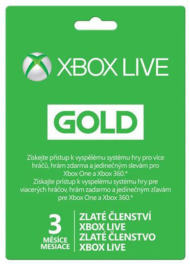 Xbox Live Zlaté členství na 3 měsíce