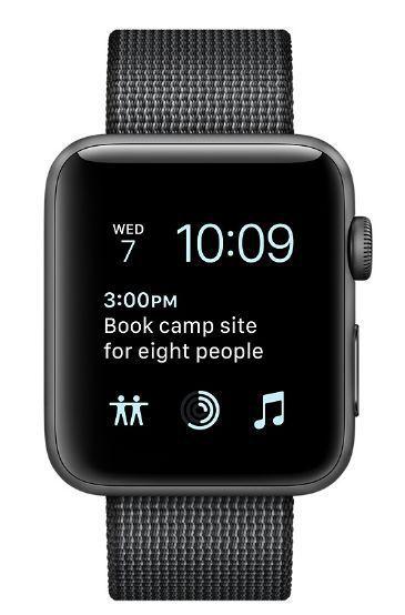Apple Watch Series 2 38mm (vesmírně šedý hliník / černý řemínek z tkaného nylonu)