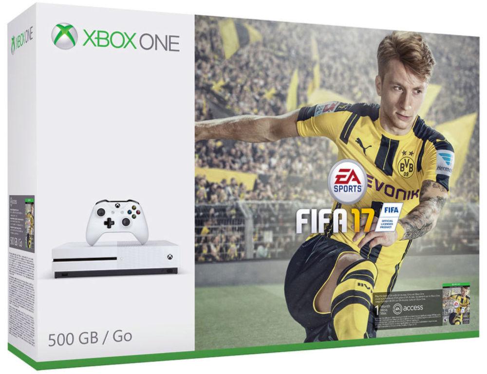 Microsoft Xbox One S 500GB + FIFA 17, ZQ9-00056