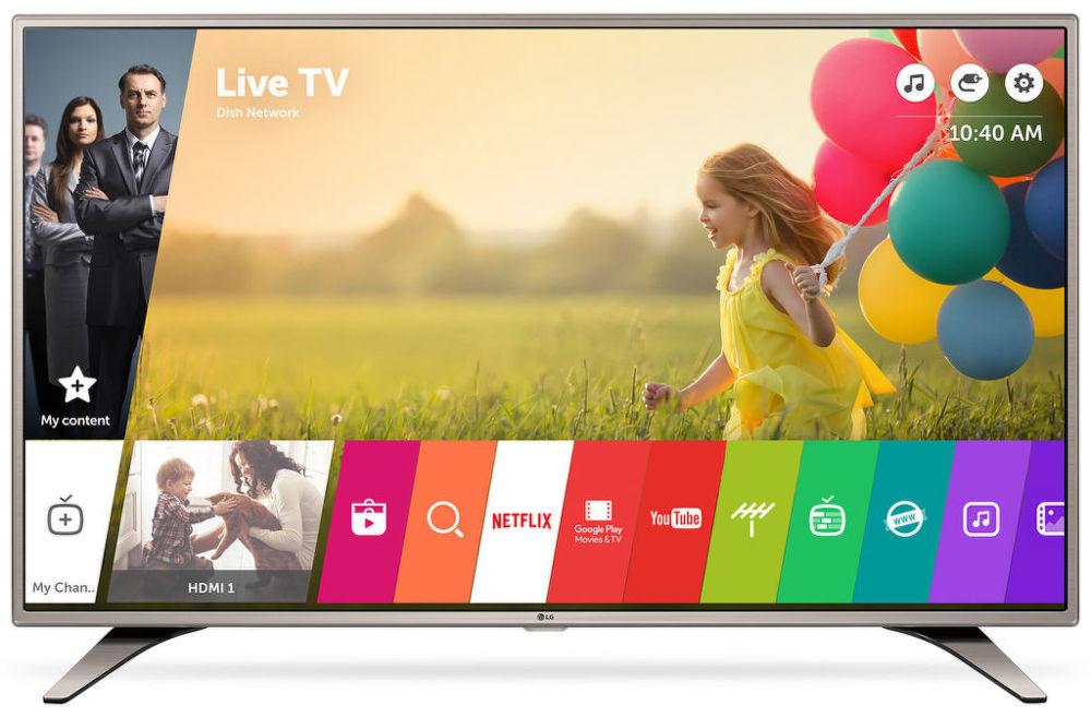 LG 43LH615V (stříbrná) + dárek Set 3 DVD filmů zdarma