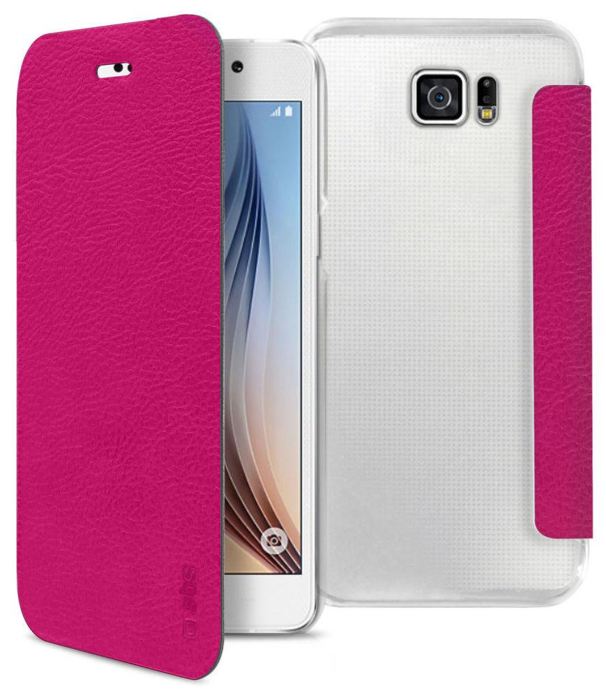 SBS pouzdro pro Samsung Galaxy S6 (růžové), TEBOOKYOUNGSAS6P