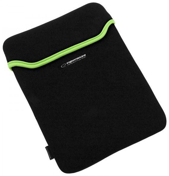 """Esperanza ET174g - neoprénové pouzdro na notebook 15.6"""" (zelený lem)"""