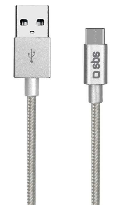 SBS USB-C Datový kabel (stříbrný)
