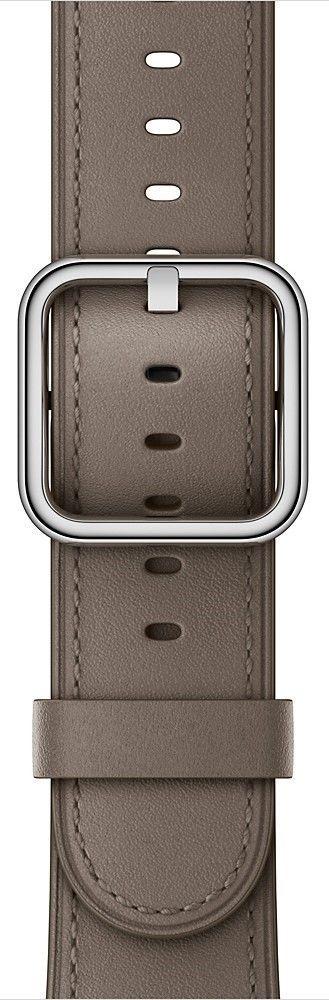Apple Watch 38mm šedo hnědý klasický řemínek