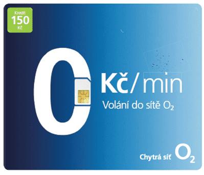 O2 Volání do O2 zdarma SIM karta