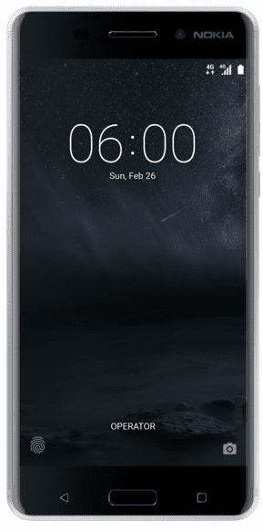 Nokia 6 stříbrný