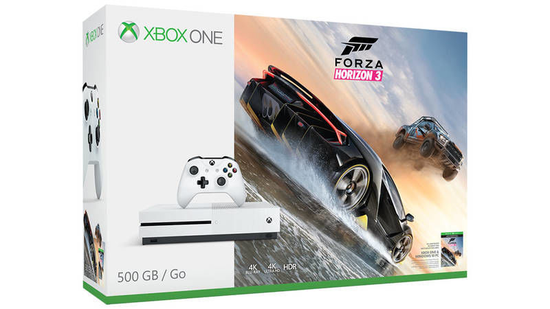 Microsoft Xbox One S 500 GB bílý + Forza Horizon 3