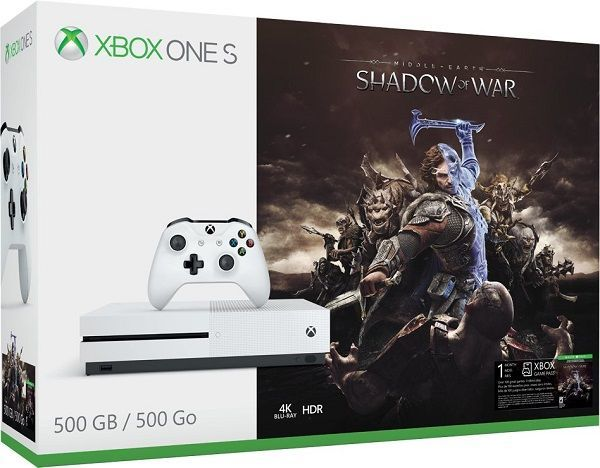 Microsoft Xbox One S 500 GB bílý + Middle-Earth: Shadow of War