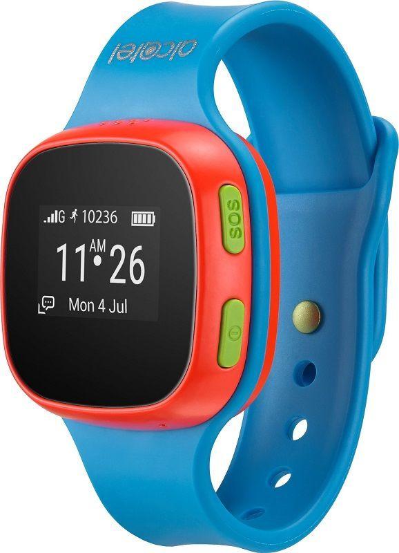 Alcatel MoveTime Track&Talk, modrá/červená + dárek Niceboy Fidget Spinner zdarma
