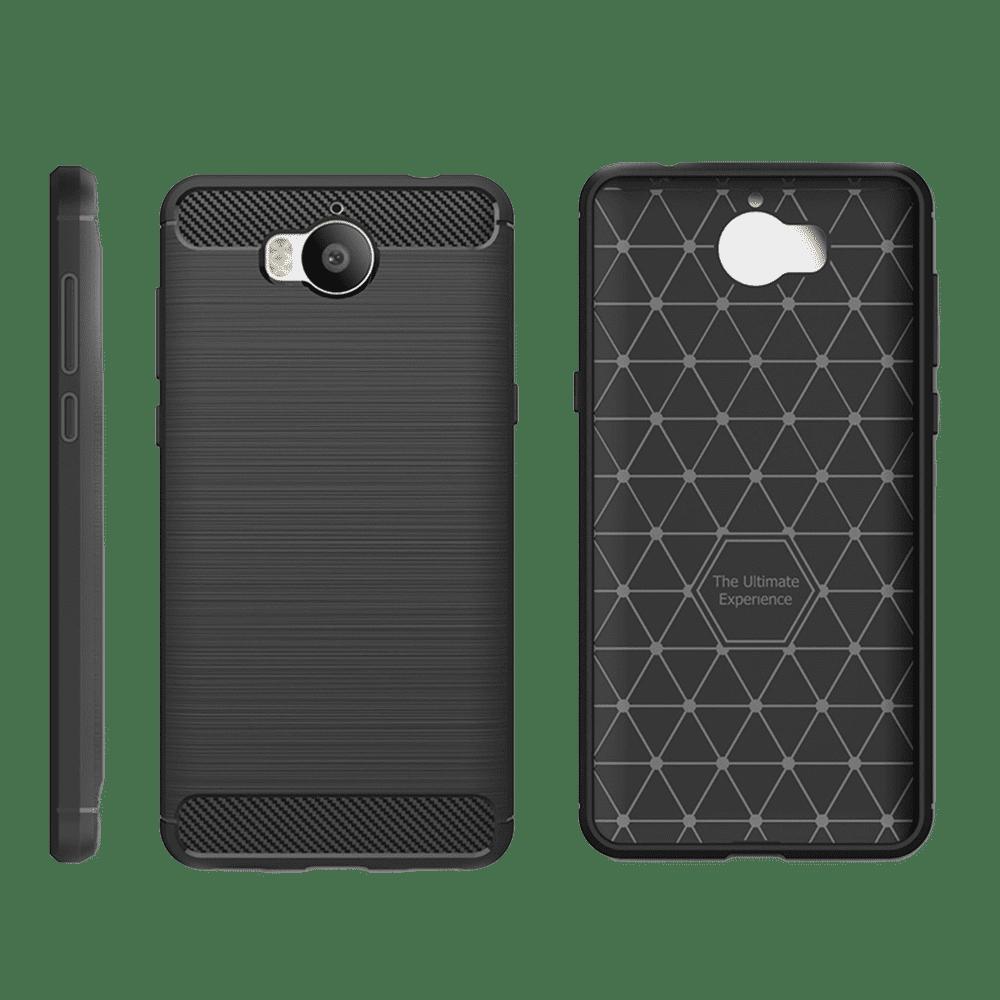 Winner Carbon pouzdro pro Huawei Y6 2017, černé