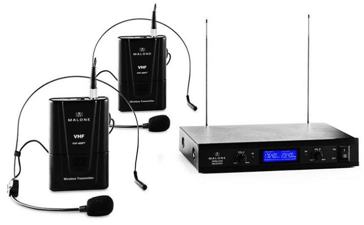 Malone VHF-400 Duo 2 bezdrátový mikrofonní set