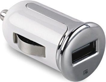Celly Turbo USB 2,4 A autonabíječka, bílá