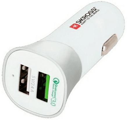 Skross Dual USB Car Quick Charger 3.0