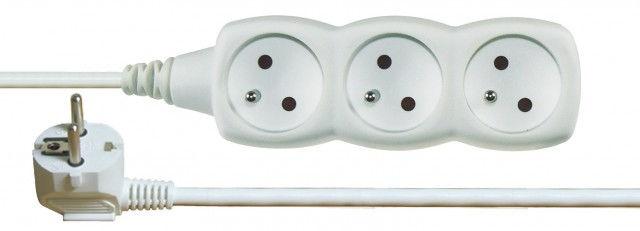 Emos P0312 - Prodlužovací kabel, 3 zásuvky, 2m (bílý)