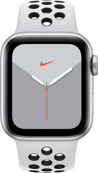Apple Watch Series 5 Nike 40mm stříbrný hliník s platinovým/černým sportovním náramkem
