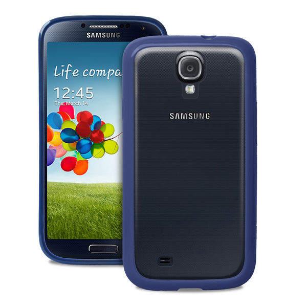 "PURO cover clear ""Galaxy S4 blue"""