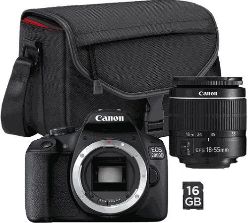 Canon EOS 2000D Value Up Kit EF-S 18-55mm f/3,5-5,6 DC III + Canon SB 130 + paměťová karta 16 GB