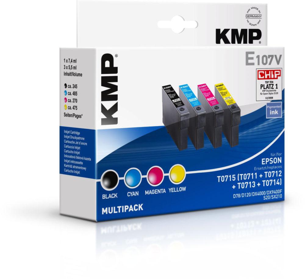 KMP E107V komp. recykl. náplň pro Epson T0711 / 12/1