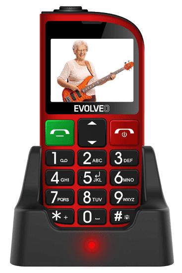 Evolveo EasyPhone FM červený