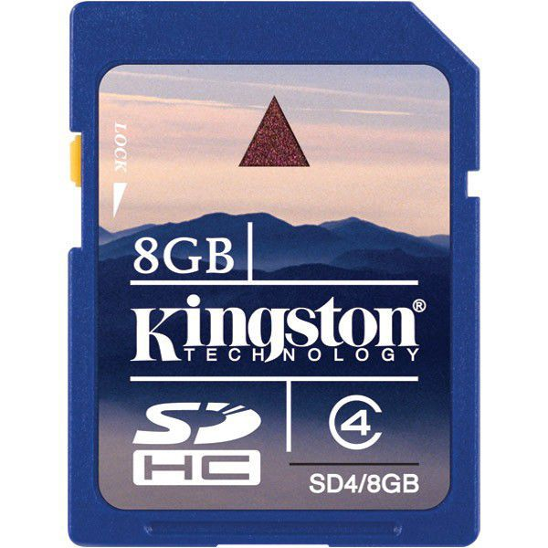 Kingston 8GB SDHC Class 4, SD4/8GB - paměťová karta