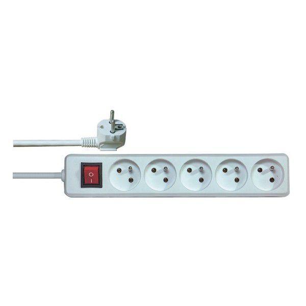 Emos P1515 - Prodlužovací kabel s vypínačem, 5 zásuvek, 5m (bílý)