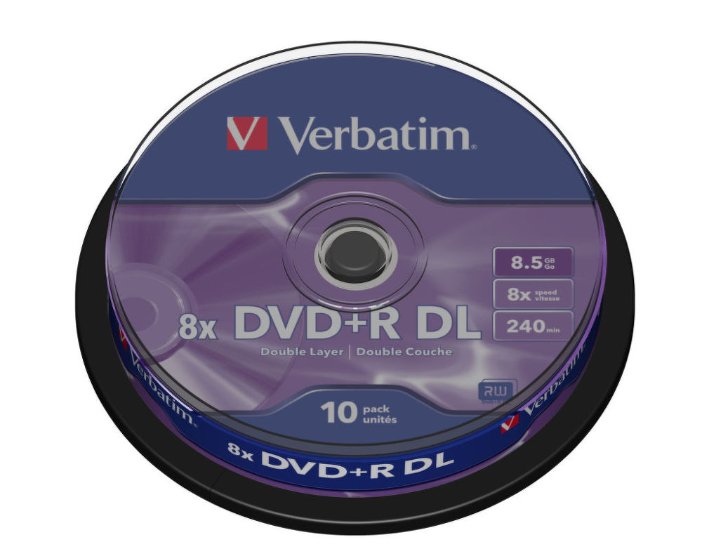 Verbatim DVD + R 8,5 GB DL 8x 10ks