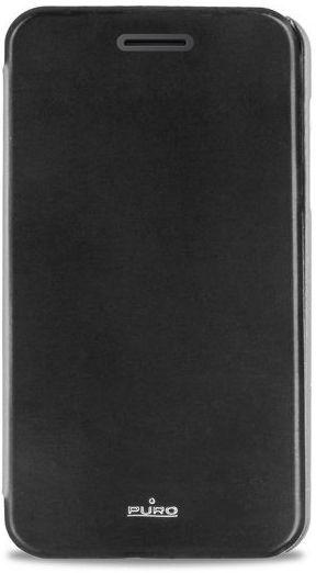 Puro flipové pouzdro pro HUAWEI Ascend Y330 s přihrádkou na kartu (černé)