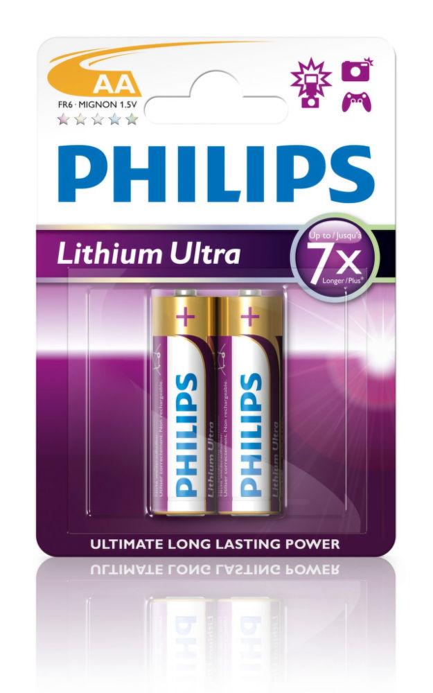Philips Lithium Ultra FR6LB2A AA, 2ks