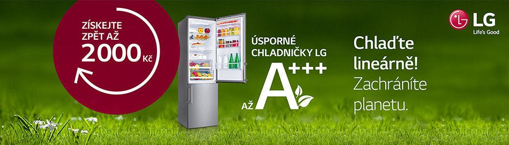Cashback až 2 000 Kč na chladničky LG