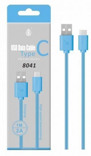 Aligator Plus 8041 USB-C datový kabel 1m, modrá