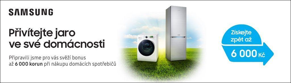 Cashback až 6 000 Kč na pračky nebo chladničky Samsung