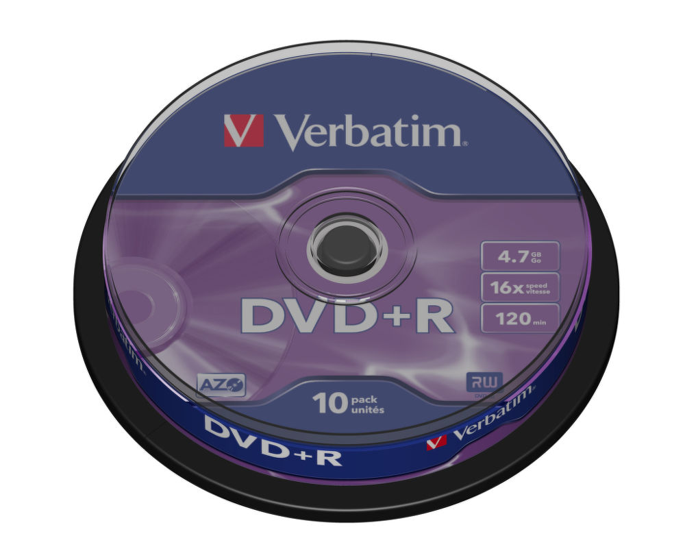 VERBATIM 10DVD + R4,7GB 16x cake