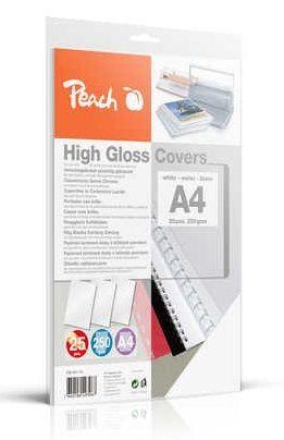 Peach PB100-16 A4 25 ks bílé vázací desky
