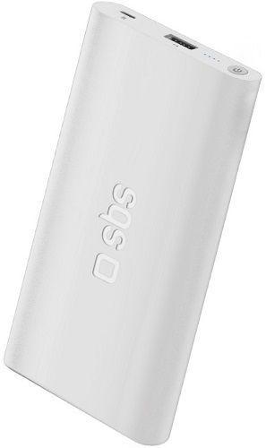 SBS Extra Slim powerbanka 4000 mAh, bílá
