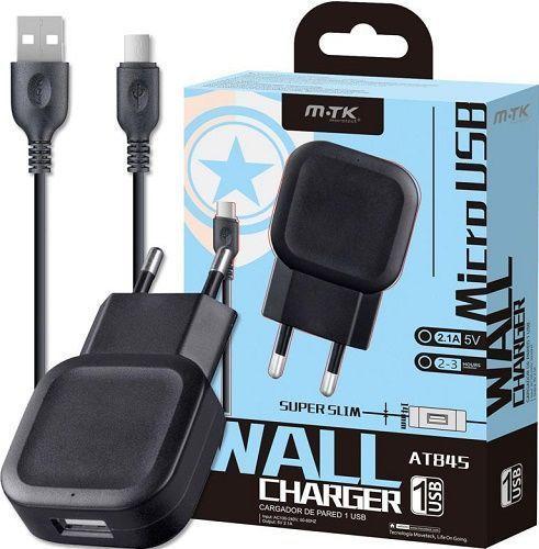 Aligator 2,1A nabíječka AT845 + Micro USB kabel, černá