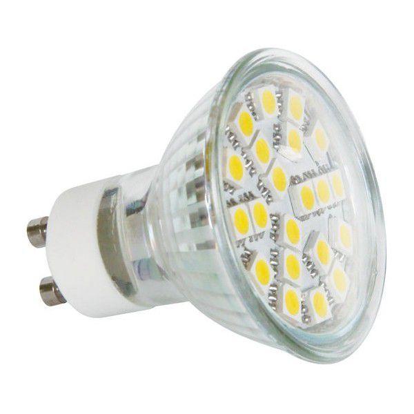 žárovky LED SMD 21LED GU10 CW Z72240